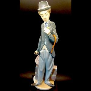 """Lladro 5233 Charlie Chaplin """"The Tramp"""" Signed!"""
